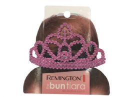 108 Wholesale Tiara In Pink And Silver Assorted Colors