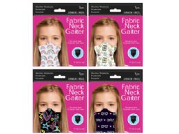 120 Units of Girls Fun Tween Neck Gaiter - Sporting and Outdoors