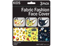 150 Units of 3 Pack Kids Washable Fun Masks 3 Assorted - Sporting and Outdoors