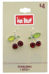 60 Wholesale Silver Tone Cherry Earrings