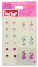 60 Wholesale 9 Pair Of Assorted Earrings On A Card