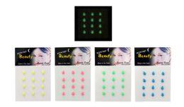 96 Wholesale Body Jewelry Glow In The Dark Tear Drop