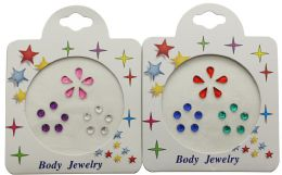 96 Wholesale Crystal Tattoo Assorted Color