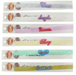 96 Wholesale Self Adhesive Glitter Tattoo Ankle Bracelet