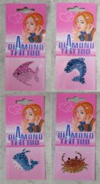 96 Wholesale Temporary Tattoos Assorted Color Sea Creature Style