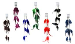 48 Wholesale Dangle Earrings Silver Tone With Feathers