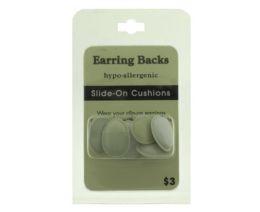 96 Wholesale Hypo Allergenic Slide On Cushion Earring Backs