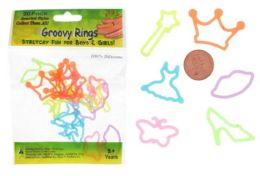 192 Wholesale Princess Style Ring Silly Bands