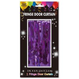 72 Wholesale Fringe Door Curtain In Purple