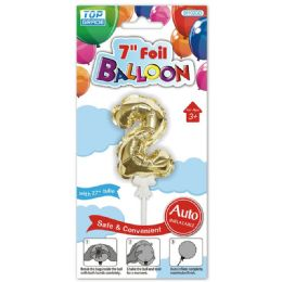 96 Wholesale Auto Inflatable Balloon Number Two In Gold