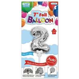 96 Wholesale Auto Inflatable Balloon Number Two In Silver