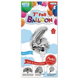 96 Wholesale Auto Inflatable Balloon Number Four In Silver