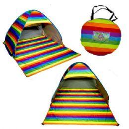 12 Units of Rainbow Beach Tent - Beach Toys