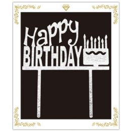 72 Wholesale Birthday Cake Topper In Silver