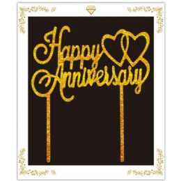 72 Wholesale Anniversary Cake Topper In Gold