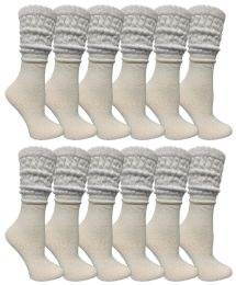 120 Units of Yacht & Smith Slouch Socks For Women, Solid White Size 9-11 - Womens Crew Sock - Women's Socks for Homeless and Charity