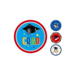120 Units of 8 Count Paper Plate Graduation - Graduation