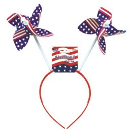 72 Wholesale July 4th Headband Windmill