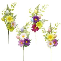144 Wholesale Flower With Foam Egg And Bunny