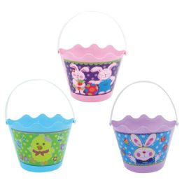 108 Wholesale Easter Bucket In Mixed Color
