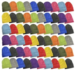 240 Units of Yacht & Smith Unisex Stretch Colorful Winter Warm Knit Beanie Hats, Many Colors - Bulk Hats for Homeless and Charity
