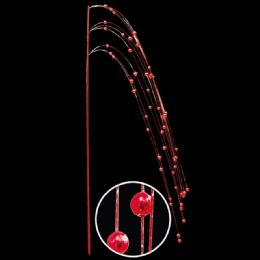 48 Wholesale Red Pearl Decoration