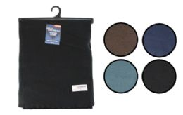 48 Units of Fleece Scarf Solid Color - Winter Scarves