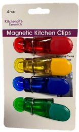48 Units of Magnetic Kitchen Clips 4 Pack - Refrigerator Magnets