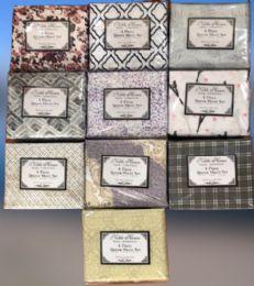 12 Units of Printed Microfiber 4 Pc Sheet Sets Twin Size - Bed Sheet Sets