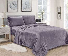 12 Units of Lavana Soft Brushed Microplush Bed Sheet Set Twin Size In Lavender - Bed Sheet Sets