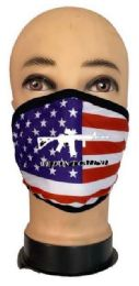 24 Wholesale Flag Style Face Mask We Don't Call 911