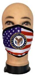 24 Wholesale Flag Style Face Mask United States Veteran