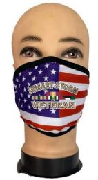 24 Wholesale Flag Style Face Mask Desert Storm Veteran