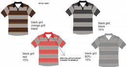24 of Men's Stripe Polo Shirt