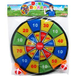 "48 Units of 11"" Dart Board With 4pc Velcro Dart Ball - Darts & Archery Sets"