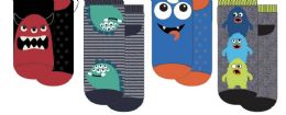 24 Units of Boys Polar Extreme Thermal Sock Footie With Monsters - Boys Socks