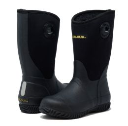 12 Units of Kids Premium High Performance Insulated Rain Boot In Black - Boys Boots