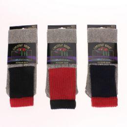 72 Bulk Mens Cotton Thermal Socks Asst