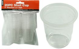 72 Units of 20 Piece Shot Cups - Plastic Drinkware