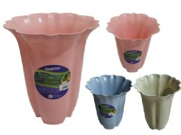 48 Units of Flower Pot Planter Assorted Color - Garden Planters and Pots