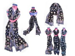 144 Units of Scarf Assorted Color - Womens Fashion Scarves