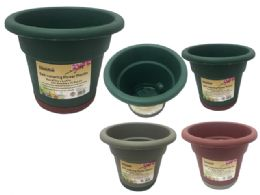 24 Units of Self Watering Flower Pot Planter - Garden Planters and Pots
