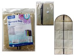 96 Units of Garment Bag With Window Beige - Travel & Luggage Items