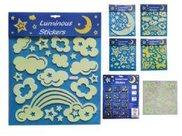 72 Wholesale Glow In The Dark Foam Stickers