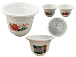 48 Units of White Flower Planter - Garden Planters and Pots