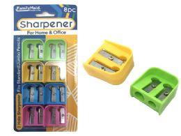 144 Bulk 8 Piece Pencil Sharpener