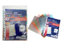 144 Units of 8 Piece Insertable Tab Dividers - Dividers & Index Cards