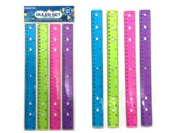 144 Wholesale Ruler 4 Piece Set