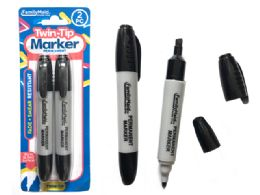 144 Units of Permanent Marker 2 Piece Black Color - Highlighter