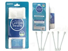 72 Bulk Cotton Swabs 350 Piece Plastic